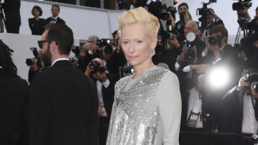 Actress Tilda Swinton poses for photographers at the premiere of The Dead Don't Die on Tuesday.