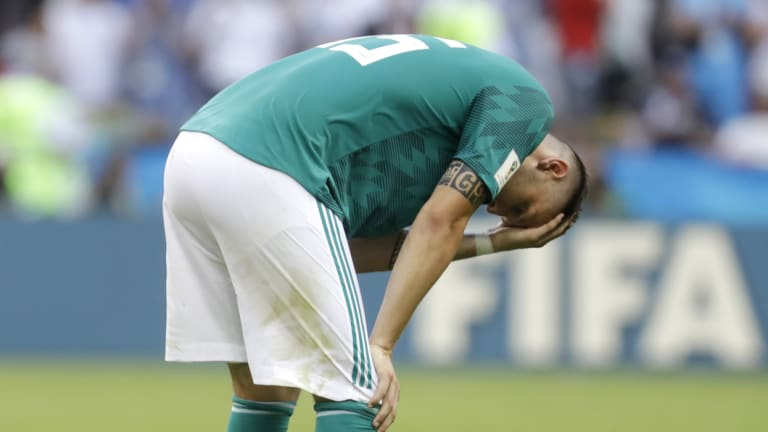 Mistakes: Germany's Niklas Suele reacts after Germany was eliminated from the World Cup.