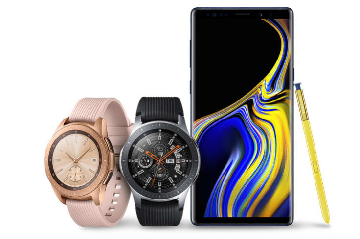 The Samsung Galaxy Note9 with its new S Pen, plus the new Galaxy Watch.
