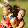 GWS star faces suspension after nasty tackle on Crows' Irish import