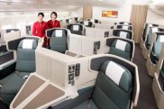 Cathay Pacific's business class gives every passenger easy and direct access to the aisle.