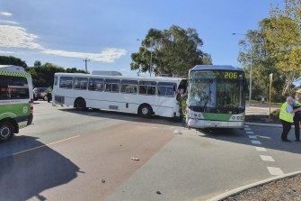 The crash occurred during peak hour on Tuesday morning.