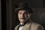 David Suchet as his much-loved character Poirot.