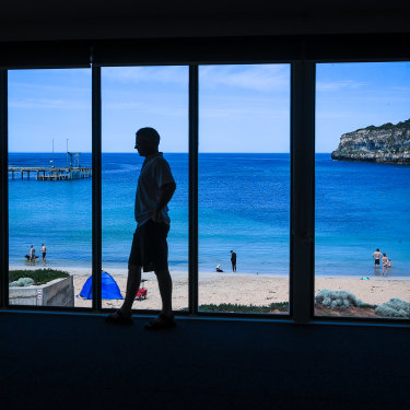 The view from the Port Campbell Surf Lifesaving Club on a calm day.