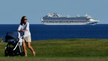 The Ruby Princess has been off the coast of Sydney with more than 1000 crew onboard.