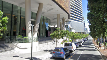 The Southpoint stretch of Grey Street which hosts both the Woolworths and McDonald's stores now deemed exposure sites.