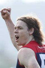 Ben Brown celebrates a goal.