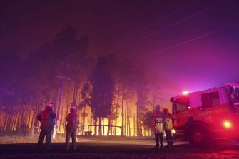 The fire raged overnight.