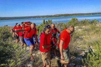 It took several hours to rescue Adamcova from the remote Adriatic island of Krk.