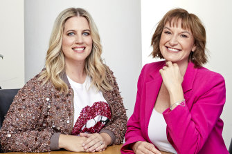 Cass Thorburn (right) and her Divorce Story co-gost Annalise Dent.