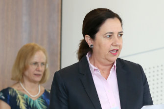 Queensland Premier Annastacia Palaszczuk and Chief Health Officer Jeannette Young.