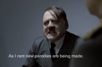 An employee at BP was sacked after he used a scene from the 2004 film Downfall about Adolf Hitler in a video meme during a long-running wages dispute.