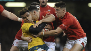 Broken: Wales have finally ended a long losing run against Australia.