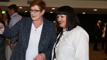 """It's not simple"": Raelene Castle, pictured earlier this month with Australia's Foreign Minister Marise Payne, plays down World League hype."