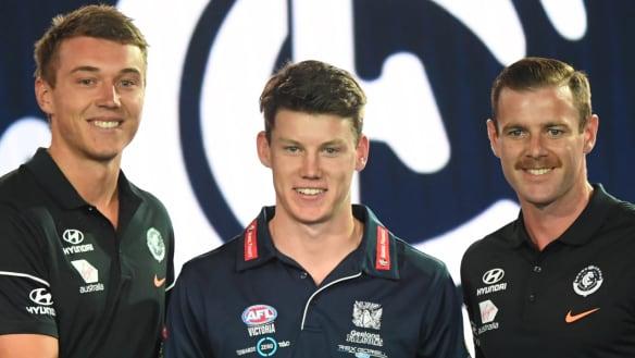 This year's No.1 selection: Carlton lob for Sam Walsh