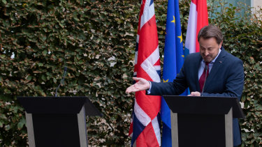 Luxembourg Prime Minister Xavier Bettel went on, despite the last-minute change of plans from Boris Johnson.