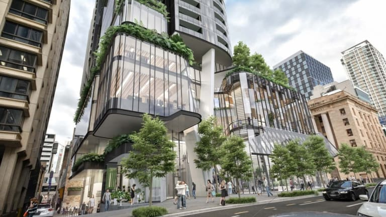Design image of 81-storey tower No.1 Brisbane to be built on the corner of George and Queen streets in Brisbane CBD.