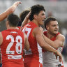 Sydney treating home stretch as 'measuring stick' for fledgling Swans