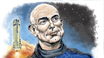 Jeff Bezos goes to space but not everyone is celebrating