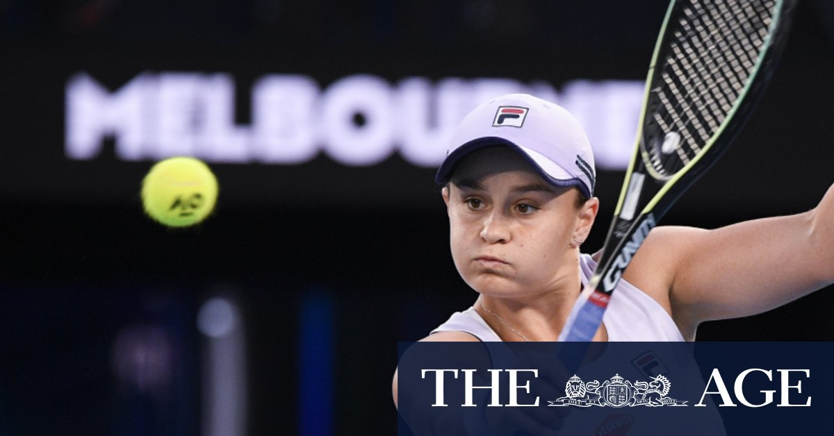 It's Barty at the double with win over Shelby Rogers – The Age