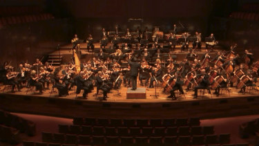 Melbourne Symphony Orchestra performed to an empty Hamer Hall in March.