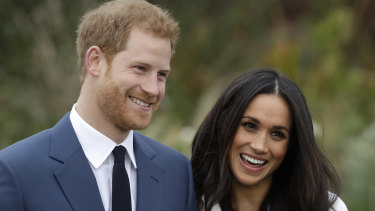 Prince Harry and then-fiancee Meghan Markle before their marriage.