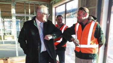 Prime Minister Scott Morrison announced the $688 million HomeBuilder program in Googong last week.
