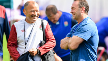 League link: Ricky Stuart joined Eddie Jones' England camp during the 2019 Rugby World Cup – but the intel exchange would have gone both ways.