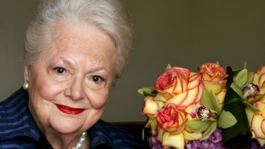 Olivia de Havilland, who played the doomed Southern belle Melanie in <i>Gone With the Wind</i>, pictured in 2004.