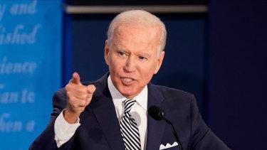 Joe Biden, the 2020 Democratic presidential candidate, speaks during the debate.