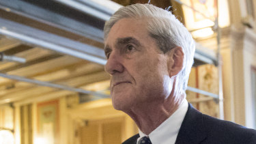 Special Counsel Robert Mueller as he departs Capitol Hill in Washington in 2017.