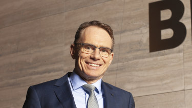 BHP CEO Andrew Mackenzie in Melbourne on Tuesday.