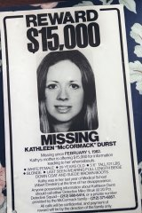 A flier from the investigation of the 1982 disappearance of Kathleen Durst.