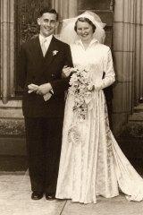 Brian and Joyce Garth at their wedding in 1953.