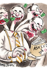 Remembering the good old days of investment banking. Illustration: John Shakespeare