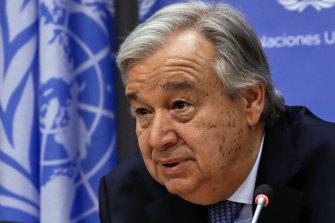 UN Secretary-General Antonio Guterres.