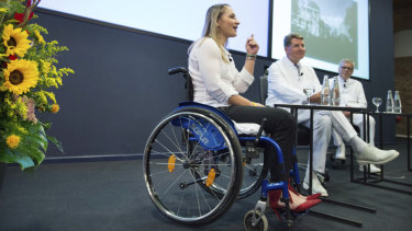 Olympic track cycling champion Kristina Vogel became a paraplegic in a training accident.