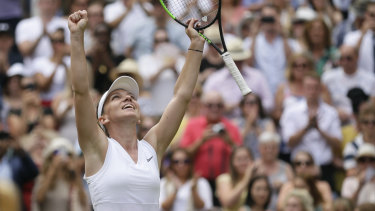 Romania's Simona Halep is one step away from her first Wimbledon title.