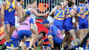 Gaff's strike and return to the field prompted retaliation from Brayshaw's riled teammates in that western derby.