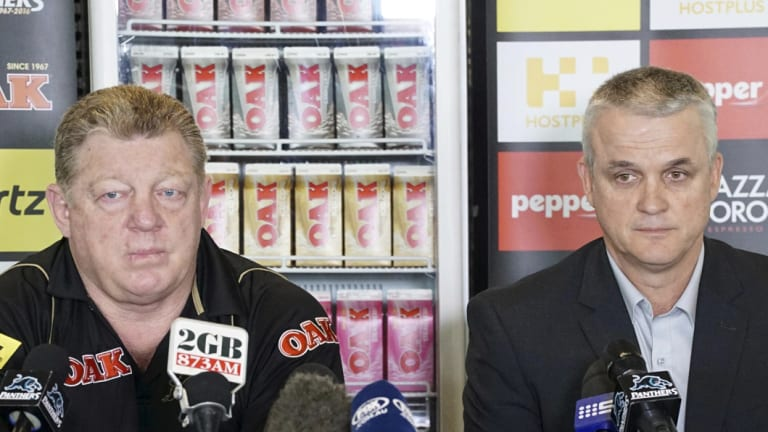 Crying over spilt milk ... Phil Gould and Anthony Griffin.