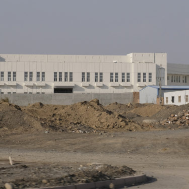 A re-education camp, officially known as vocational education and training centre, on the outskirts of Turpan City, Xinjiang.