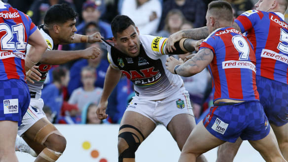 Punches thrown as flustered Panthers' top-four hopes almost KO'd