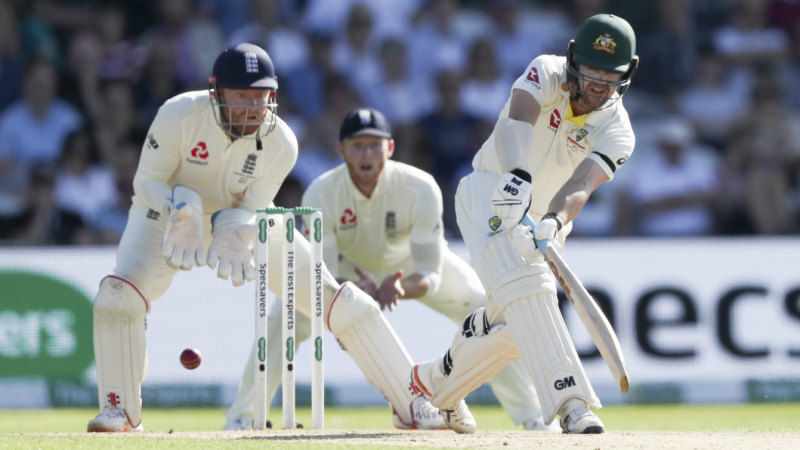 Australian bowlers lay one hand on Ashes urn