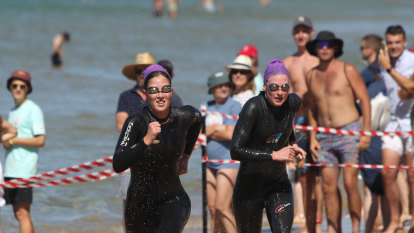 Swimmers take the plunge at Portsea as major swim events return