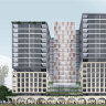 The concept design for two new apartment towers proposed as part of Meriton's Pagewood Green development.