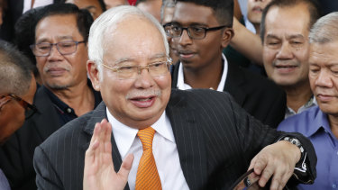 Former Malaysian prime minister Najib Razak.