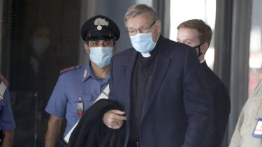 Cardinal George Pell returns to Rome amid reports of an elaborate conspiracy to influence his trial.