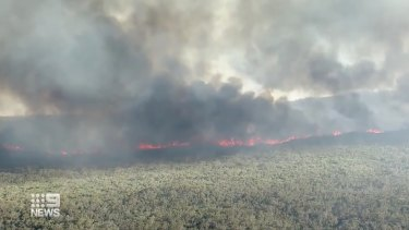Specialist crews will be deployed on Sunday to fight the fire in the rugged landscape.