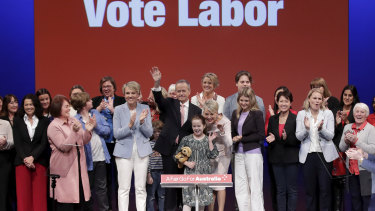 Bill Shorten campaigned in Melbourne on Sunday with his wife, kids and colleagues.