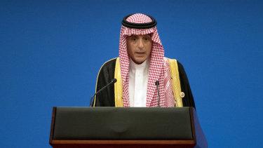 Saudi Arabia's Foreign Minister Adel al-Jubeir.